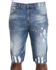 Basic Essentials - Hand - Painted Destructed Denim Shorts
