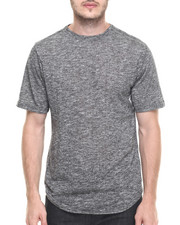 Men - Contender Melange Scallop bottom s/s tee (S-3x)