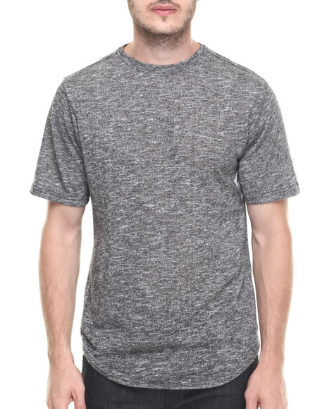 Buyers Picks - Men Grey Contender Melange Scallop Bottom S/S Tee (S-3X)