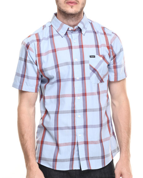 Ur-ID 219780 Brixton - Men Light Blue Howl S/S Button-Down