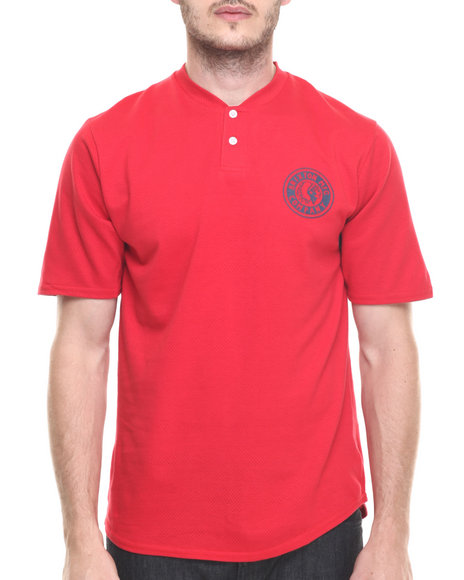 Brixton - Men Red Rival S/S Henley Tee