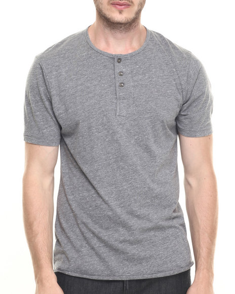 Brixton - Men Grey Berkeley S/S Henley Tee