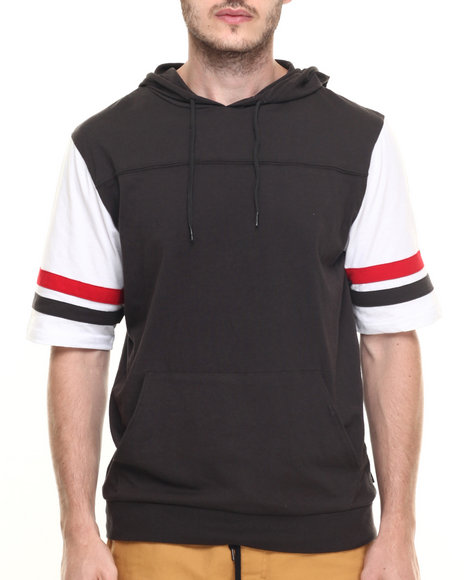 Ur-ID 219794 Brixton - Men Black Voyager S/S Hooded Knit