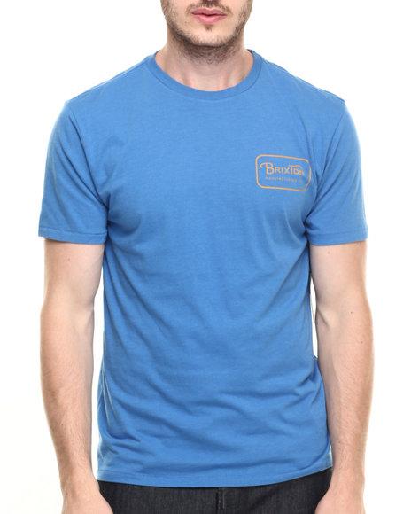 Ur-ID 219802 Brixton - Men Blue Grade Premium Tee