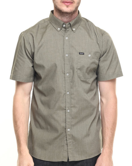 Ur-ID 219803 Brixton - Men Green Central S/S Button-Down