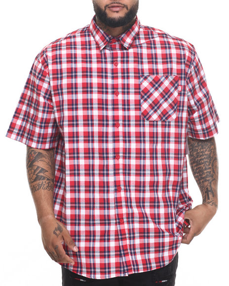 Ur-ID 219598 Enyce - Men Red Cape Code S/S Button-Down (B&T)