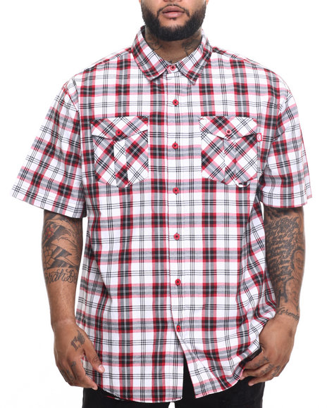 Ur-ID 219601 Ecko - Men Red Red Chilli S/S Button-Down (B&T)