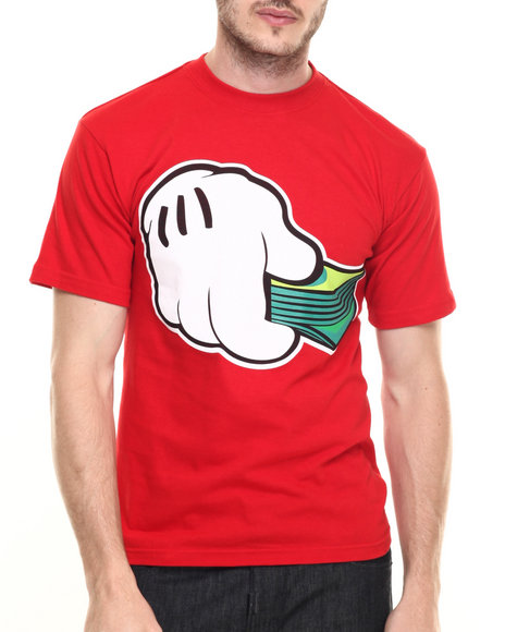 Graf-X Gallery - Men Red Hand It Over S/S Tee - $9.99