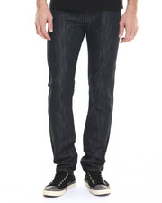 Basic Essentials - Cut & Sew Back - Pocket Slim Denim Jeans
