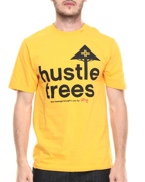 Lrg - Men Yellow Rc Hustle Trees T-Shirt
