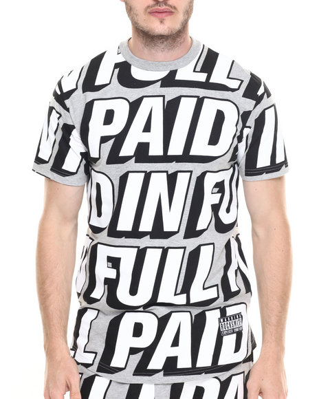 Ur-ID 219787 Rocksmith - Men Grey Paid In Full T-Shirt
