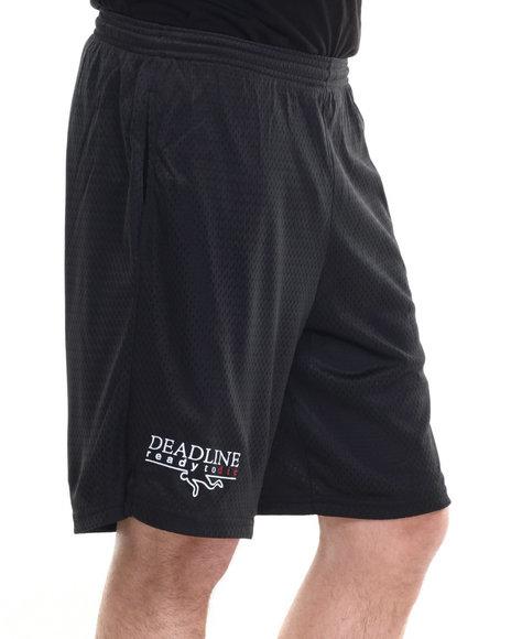 Deadline - Men Black Ready To Die Champion Mesh Shorts - $23.99