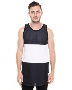 Tank Tops - Blocks Regime Mesh Drop Tank