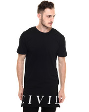 Men - Civil Regime Long Side Zip Tee