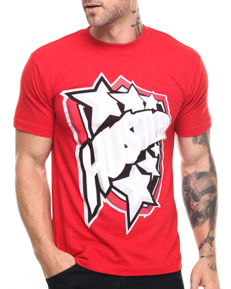 Graf-X Gallery - Men Red Hustla S/S Tee - $7.99