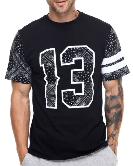Buyers Picks - Men Black Bandana Print Athletics