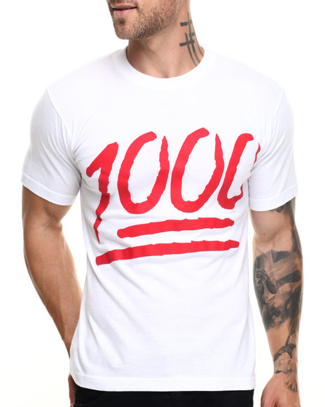 Graf-X Gallery - Men White Keep It 1000 S/S Tee - $8.99