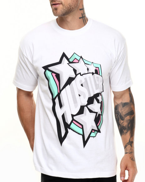Graf-X Gallery - Men White Hustla S/S Tee - $7.99