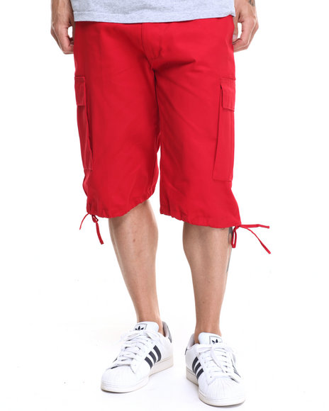 Buyers Picks - Men Red Army Belted Cargo Short