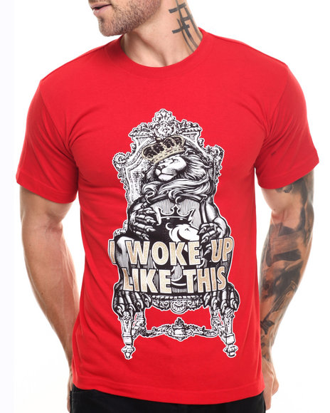 Graf-X Gallery - Men Red Woke Up S/S Tee - $9.99