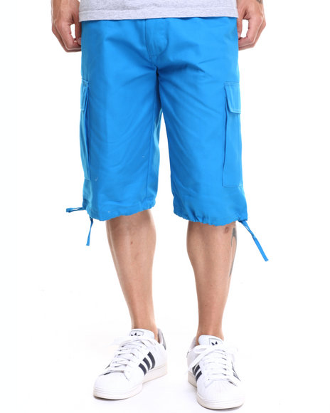 Buyers Picks - Men Blue Army Belted Cargo Short