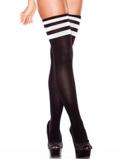 Accessories - Thigh High Striped Socks