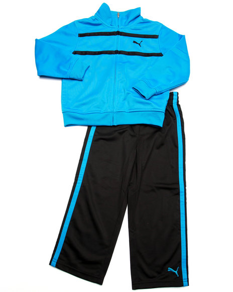 Puma - Boys Blue Logo Tricot Set (4-7) - $20.99