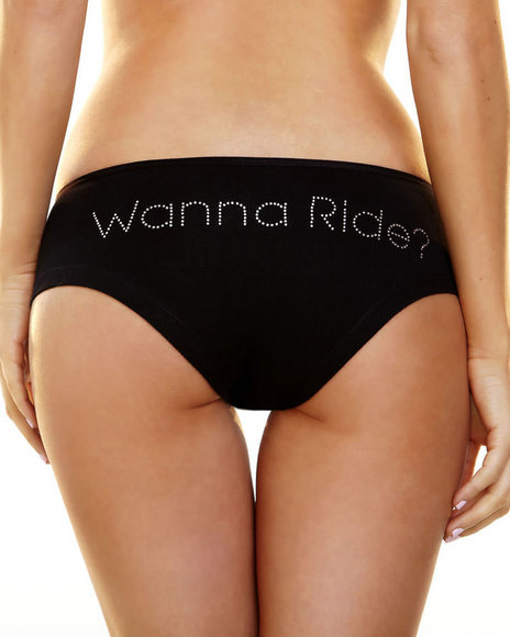 Ur-ID 219815 Hustler Lingerie - Women Black Bling Booty Short-Wanna Ride?
