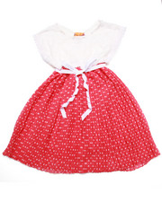 Sizes 4-6x - Kids - Lace Dot Pleated Chiffon Dress (4-6X)