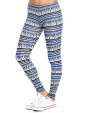 Bottoms - Aztec Print Cotton Legging