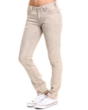 Straight - French Grey 5 Pocket Straight Leg Jean