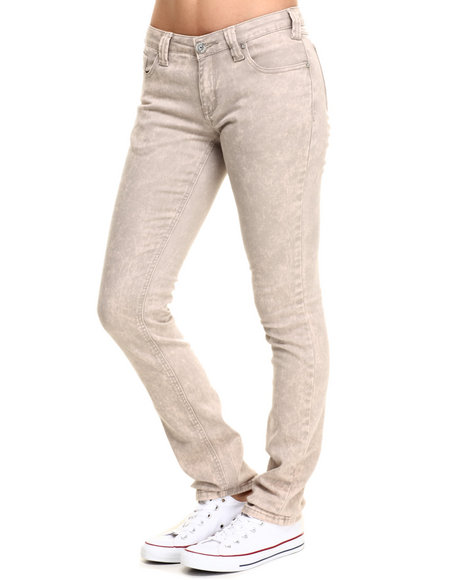 Vertigo - Women Grey French Grey 5 Pocket Straight Leg Jean