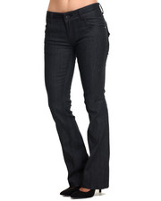 Jeans - Flap Pockets Flared Jean