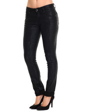 Skinny - Cheetah Coated 5 Pocket Skinny Jean