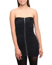 Women - Zip Front Caterpillar Tube Top