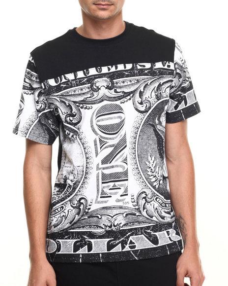 Buyers Picks - Men Black All Over Money Print S/S Tee