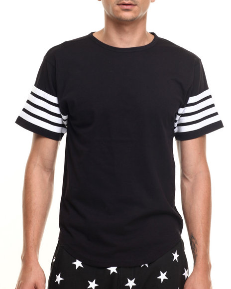 Ur-ID 219931 Buyers Picks - Men Black Round Bottom Finished S/S Tee