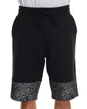 Men - Mesh Scan Print draw-string shorts