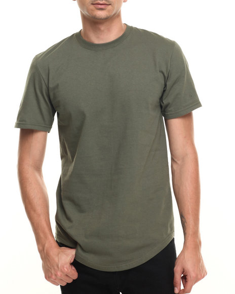 Buyers Picks - Men Olive Contender Essential Scallop S/S Tee