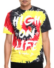 Men - High On Life tye dye s/s tee