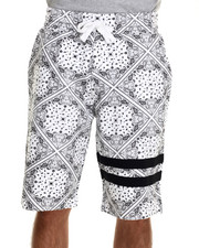 Men - Bandana Print drawtring shorts