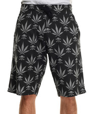 Men - 4/20 Leaf Print Drawstring shorts