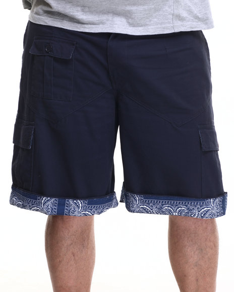 Ur-ID 219559 Winchester - Men Navy Sewn Cargo Shorts (B&T)
