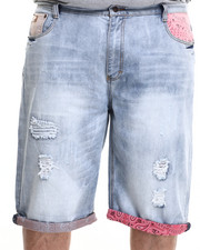 Shorts - Fort Worth Flag trim denim shorts (B&T)