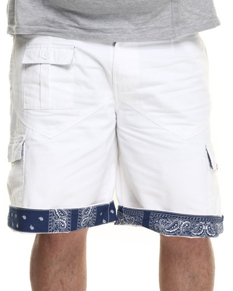 Ur-ID 219561 Winchester - Men White Sewn Cargo Shorts (B&T)