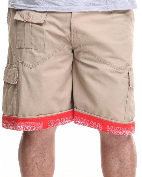 Ur-ID 219562 Winchester - Men Khaki Sewn Cargo Shorts (B&T)