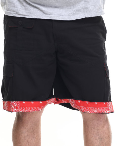 Ur-ID 219563 Winchester - Men Black Sewn Cargo Shorts (B&T)