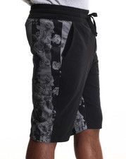 Men - Mesh Trim drawstring shorts