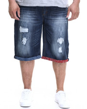 Winchester - Fort Worth Flag trim denim shorts (B&T)