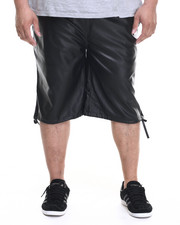 Buyers Picks - Full Faux Leather Drawstring Shorts (B&T)